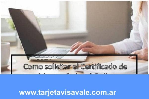 Como solicitar el Certificado de ética profesional Online