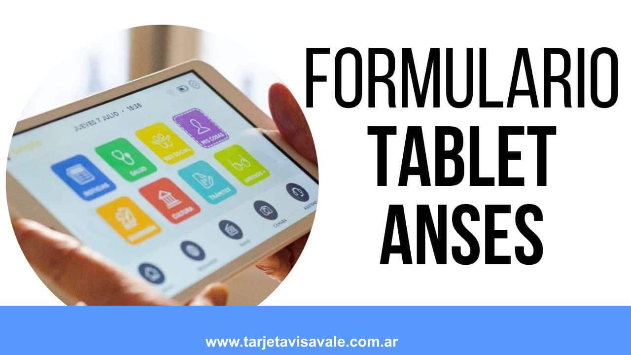 formulario de alta para la tablet de ANSES