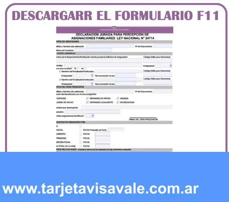 Descargar el formulario F11 en Cordoba y Buenos Aires