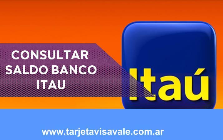 Consultar Saldo Itau Canales digitales y homebanking
