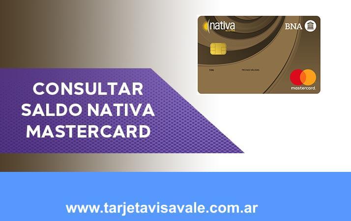 Consultar Saldo Nativa MasterCard Como averiguarlo