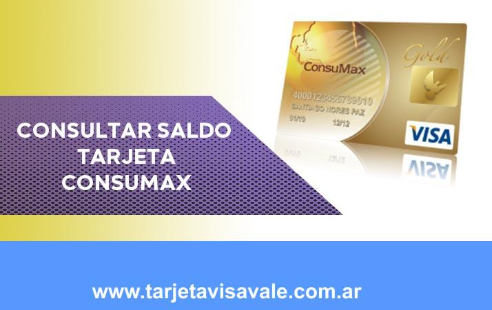 Consultar Saldo Tarjeta Consumax Hacelo en línea
