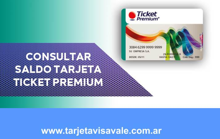 Consultar Saldo Tarjeta Ticket Premium Fácil y Rápido