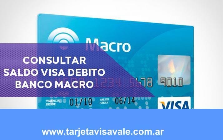Consultar Saldo Visa Débito del Banco Macro