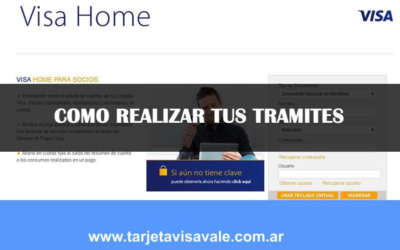 Visa Home, Visa home socios ,visa Home banking